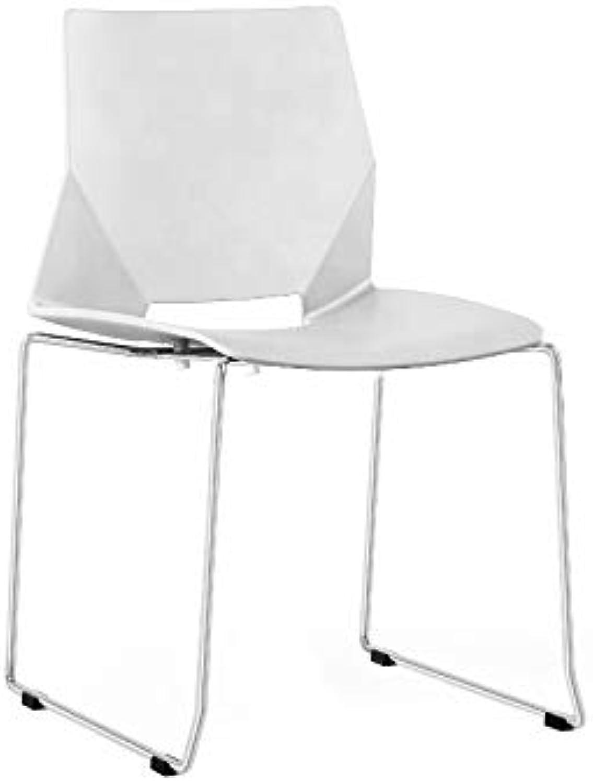ZOLTA Modern Stuhl Retro-Stil Eiffel Kunststoff Stuhl Esszimmer Büro Skandinavisch Design Küchenstühle (Wei, 2)