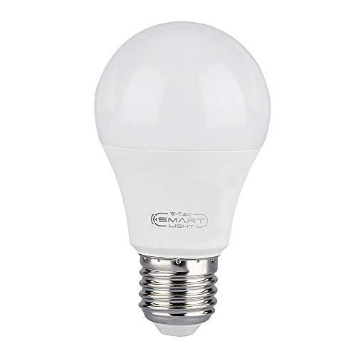 V-TAC VT-5113, Lampadina LED E27 11W A60 Compatibile con Google Home e Amazon Alexa Tramite App V-Tac Smart RGB e 3 in 1 Dimmerabile