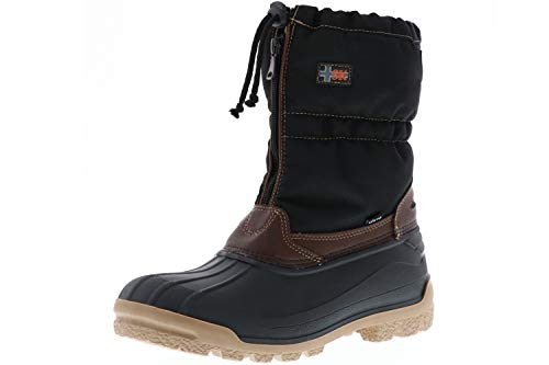 Vista Canada Polar Winterstiefel Damen Herren Snowboots herausnehmbaren Thermo-TEX Innenschuhen braun, Doppelgröße:47/48;Farbe:Braun