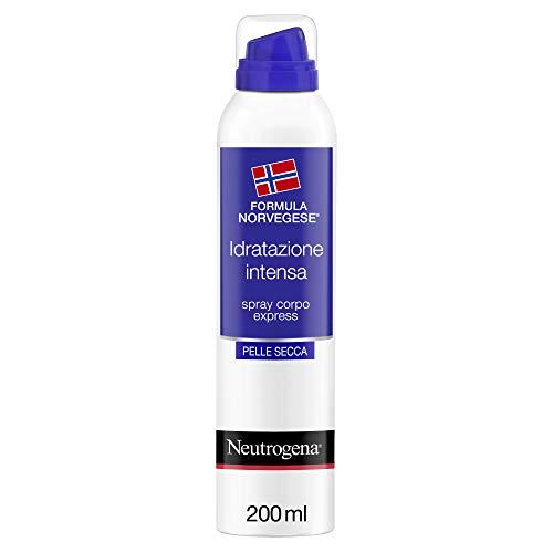 Neutrogena Spray Idratante Corpo, Formula Norvegese, Idratazione Intensa, Spray Corpo Express, Pelle Secca , 200 ml