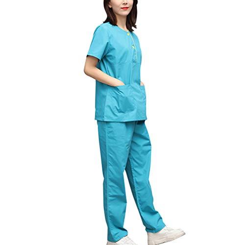 MISEMIYA Batas Laboratorios T/única De Enfermer/ía Pantaloni per Uniforme Sanitaria Donna
