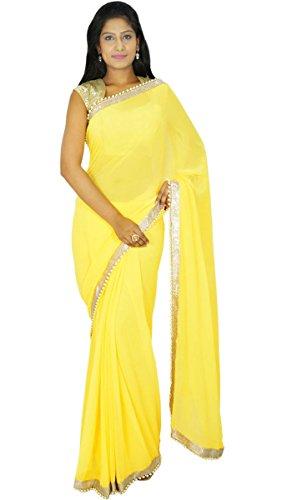Indianbeautifulart indischen traditionellen Sari Partei zu tragen Designer-Hochzeits Georgette Sari Geschenk für sie