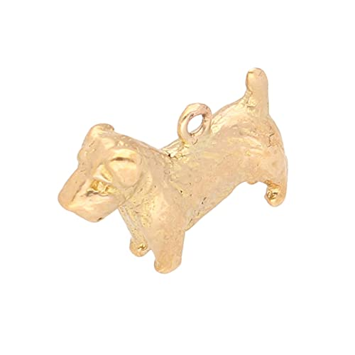 Colgante para perro Westie/Schnauzer de oro amarillo de 9 quilates para mujer (20 x 14 mm) | Jollys Jewellers