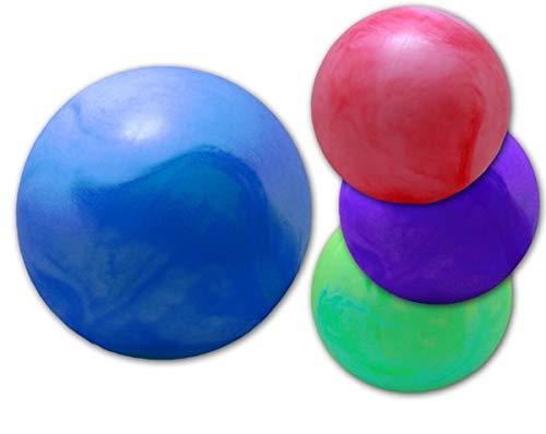 wuselwelt (741-4) 4 Stück PVC Marmorball 40 cm, Marmor Ball Spielball, Wasserball, Beachball, Strandball