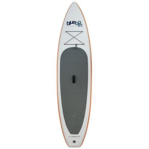 Blueborn ProGlider 11 SUP Stand Up Paddle Board con pompa Sistema a doppia camera, Bianco / Arancione, 332x77x14 cm