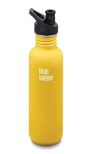 Klean Kanteen Classic Edelstahlflasche,  gelb(Lemon Curry) 27oz (800ml)