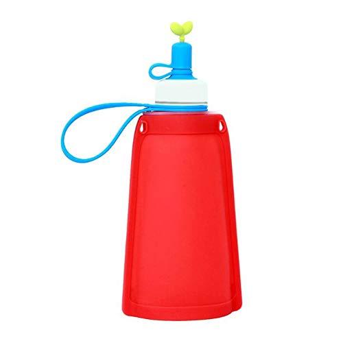 CGMZN Wasserglasbeutel Sac de bouteille D'eau résistant à la fuite d'une bouilloire en Silicone Pour le matériel de Voyage de Sports de Plein air, kit de Sports de Plein air Rouge/bleu Clair/Jaune