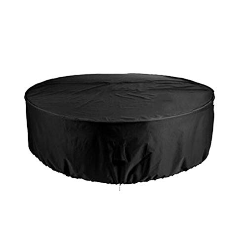 WGE 100% Waterproof, Heavy Duty Patio Round Fire Pit/Table/Bowl Cover 32-90 Inch, Black,36''Lx36''wx20 H