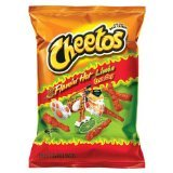 Cheetos Flamin' Hot Limon Crunchy 9oz Bag (Pack of 4)