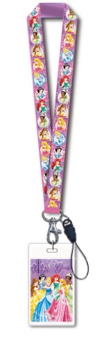 Disney Princess Lanyard with Card Holder,Pink,1