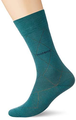 BOSS Herren John RS Colours WO Klassische Socken, Medium Green317, 39-42
