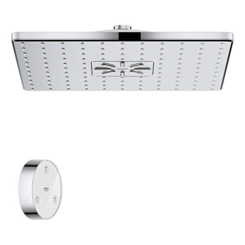 GROHE 26645000 Rainshower SmartConnect Showerhead with 2 Spray and Remote Control, Base Unit, Starlight Chrome