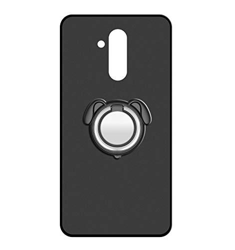 Sunrive Für Ulefone Power 3 / 3S Hülle Silikon, 360°drehbarer Ständer Ring Fingerhalter Fingerhalterung Handyhülle matt Schutzhülle Etui Case (Farbe schwarz)+Gratis Universal Eingabestift MEHRWEG