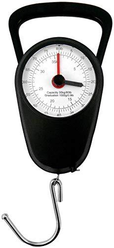Eaxus® Analoge Kofferwaage/Gepäckwaage - Gaswaage bis 35kg mit Gepäckhaken