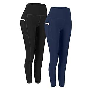 Fashion Shopping Fengbay 2 Pack High Waist Yoga Pants, Pocket Yoga Pants Tummy Control Workout Running