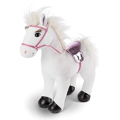 NICI Winnie het zachte speelgoedpaard 35 cm staand met hoofdstel en zadel - Knuffelpony speelgoed voor meisjes, jongens & babys - Pluche knuffeldier om mee te spelen & te knuffelen