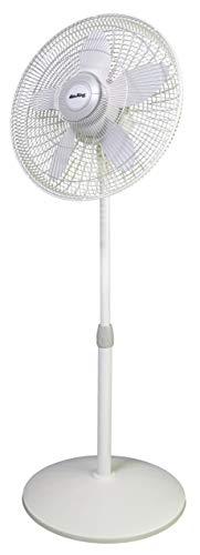 Air King 9119 18-Inch 3-Speed Commercial Grade Adjustable Oscillating Pedestal Fan, 1/20-Horsepower, White