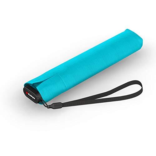 Knirps Taschenschirm Ultra US.050 Slim Manual – Ultra leicht und flach – Sturmfest – Windproof – 21 cm – Aqua