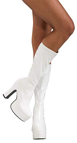 Secret Wishes High Heel Platform Costume Boots, White, Medium