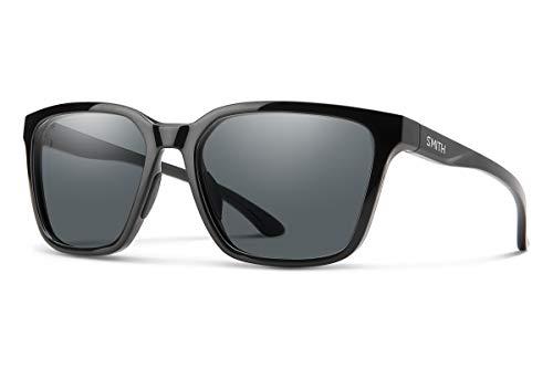 SMITH Shoutout Gafas, Black/Polarized Gray, 57 Unisex Adulto