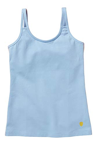Yellowberry Shell Camisole - Best, Most Comfortable for Girls, Tweens and Teens - Great for a Teen Girls First Bra (XL, Blue Jay)