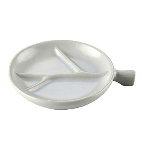 jinrun Snack Trays Ceramic Dip Bowls Set Snack Serving Dishes Dipping Bowls Set Porcelain Dipping Sauce Bowls Dishes Seasoning Dishes Cute Snack Bowls (Color : Silver)