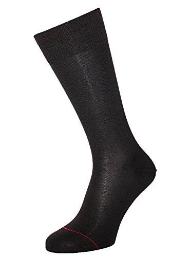 ALBERT KREUZ Business Herren-Socken aus Baumwolle mit Silberfaser antibakteriell schwarz 42-44