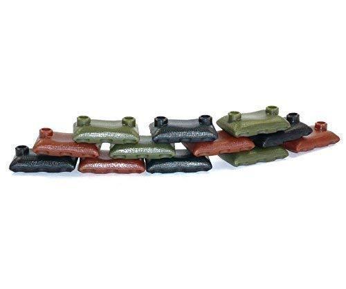 Custom 12 Sandsäcke schwarz braun grün 12 Stück WW2 Bundeswehr für LEGO Figuren