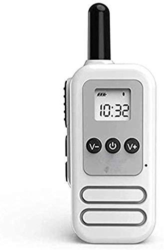 SDesign Mini Praktische Walkie, Wiederaufladbare Long Range Zwei-Wege-Radios, tragbare -Talkie Mini Hotel Restaurant Hotel Schönheitssalon Compact Mini Wireless Handsets Outdoor (1 Paar) (White)
