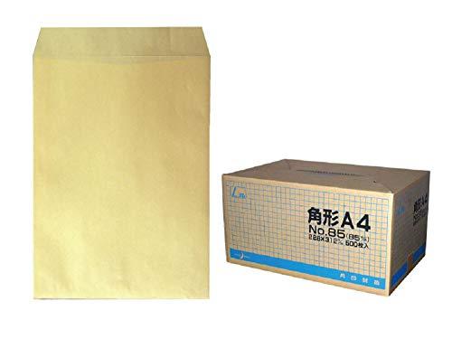 角A4封筒 クラフト 85g L貼 /500枚 (KA0851)