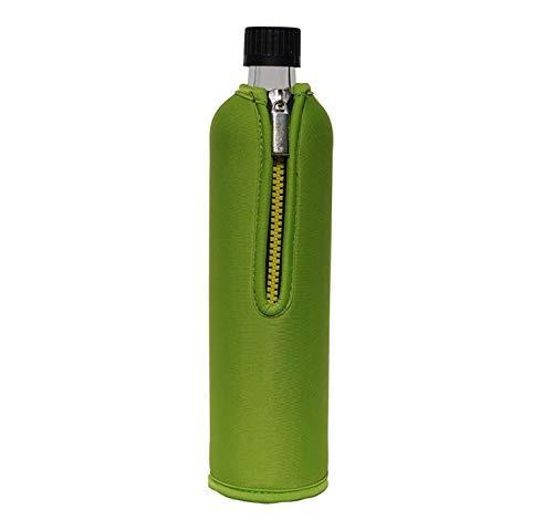 Dora´s Glasflasche mit Neoprenbezug 500 ml (grün)