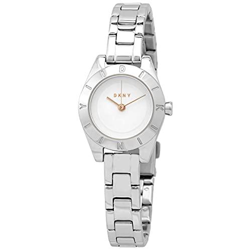 DKNY Geograph NY2870 - Reloj para mujer con esfera plateada