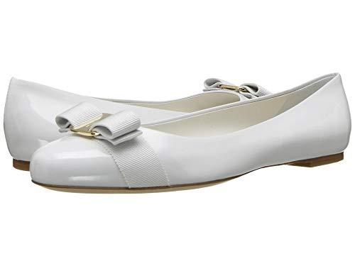 Salvatore Ferragamo Women's Varina New Bianco Ottico Patent 7 B US B