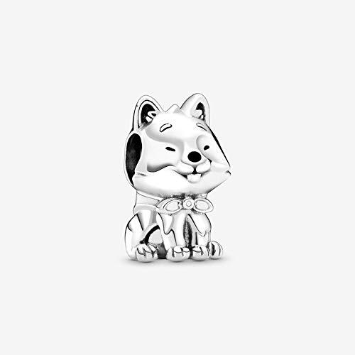 ZSCZQ 100% Plata de Ley 925 Perro 's Story Poodle Puppy Bulldog Beads Charm Fit Charms Plata 925 Pulsera Original CMS1575-4