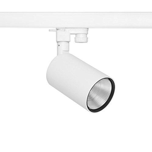3-Phasen LED-Strahler dimmbar, Alu weiß, 230V, 19W, 2000lm, 3000K, 38°