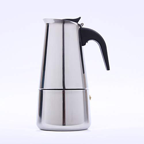 OUZHOU Cafetera de Espresso de inducción de 4 Tazas, cafetera Espresso eléctrica de Acero Inoxidable, Paquete de 1100 ml