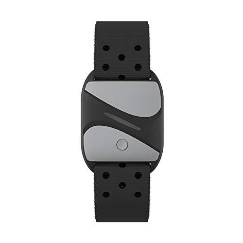 smartLAB hrm A Herzfrequenzmesser am Arm Schwarz mit Bluetooth und ANT+ Kompatible mit Garmin Wahoo Polar RUNTASTIC PRO