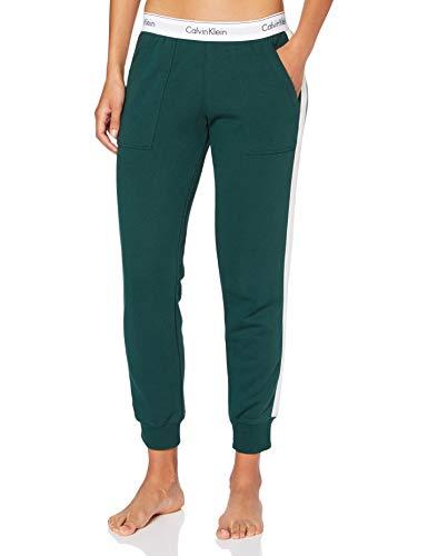 Calvin Klein Damen Jogger Schlafanzughose, Grün (Camp CP2), Medium