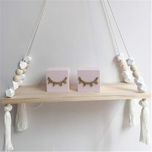 SWECOMZE Estantería flotante de madera para colgar en la pared para niñas y habitaciones infantiles. Tamaño: 38 x 14 x 1,2...