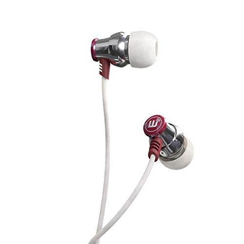 Brainwavz Delta Silver Bass Earbuds with Microphone & Remote for Apple iPhone & Android Phones