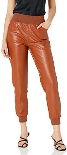 KENDALL KYLIE Women s Vegan Leather Jogger Nutmeg Medium product image