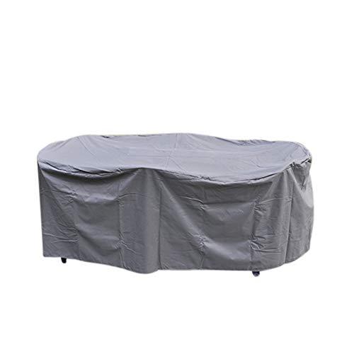 HI Schutzhülle Abdeckung schwer für Sitzgruppen Gartentische 230x135x70 oval anthrazit 61044