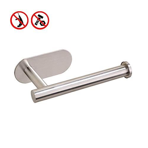 MOPKJH portarollos Papel higienico portarrollos Papel higienico sin Taladro Soporte de Rollo de Inodoro Juego de toalleros y toalleros Silver