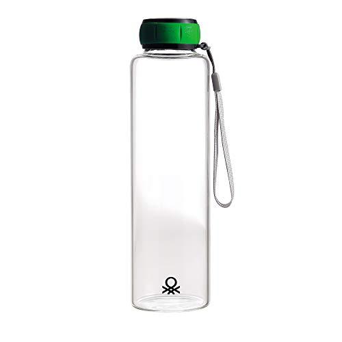 UNITED COLORS OF BENETTON. BE102 Botella Agua 550ml borosilicato Verde Casa Benetton, Cristal