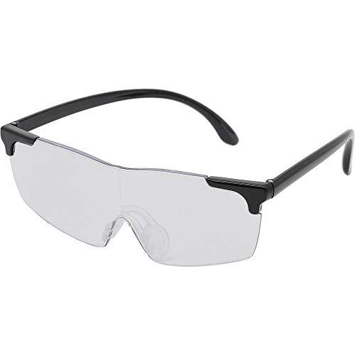 キングジム メガネ型 拡大鏡 無地 AM40 グレー