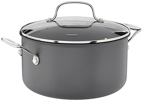Cuisinart 644-24 Chef's Classic Nonstick Hard-Anodized 6-Quart Stockpot with Lid,Black