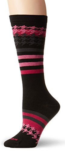 Wigwam Women's Sweet Tooth Wool-Free Casual Crew Sock, Black, Medium