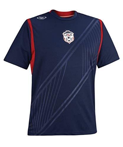 Xara International USA Short Sleeve Jersey, Adult Medium Blue