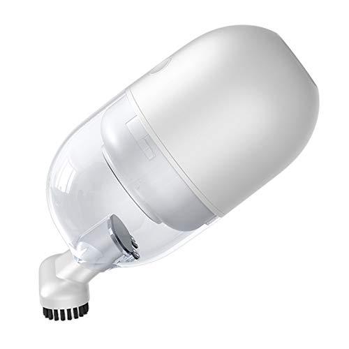GMZS Mini Cleader Cleader, Limpiador de Manos portátiles inalámbricos, para un Limpiador de vacío inalámbrico de Keyborad para el hogar, 1000PA,Blanco
