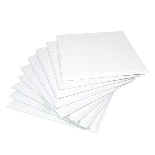 Cobeky Paneles acústicos blancos 12 piezas biselados de alta densidad para decoración de pared y tratamiento acústico